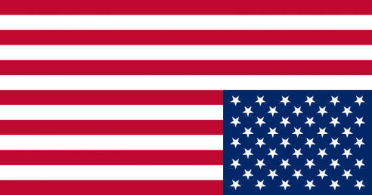 American US upside down flag