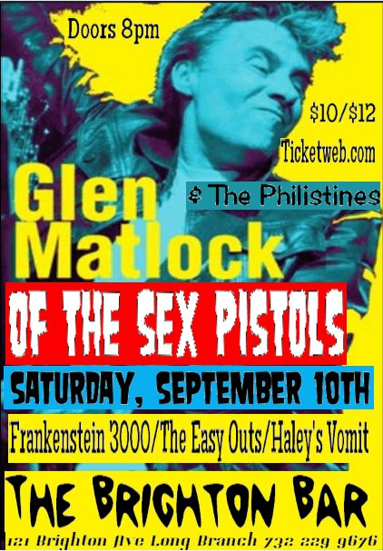 Glen Matlock former Teenage Sex Pistol