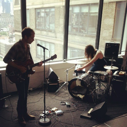 Dusted playing live at Ogilvy New York