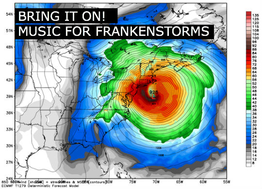 Music Playlist for bad weather and bad storms - aka sandy frankenstorm