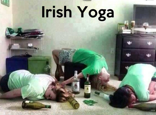 Irish Drunk girls doing yoga LOL