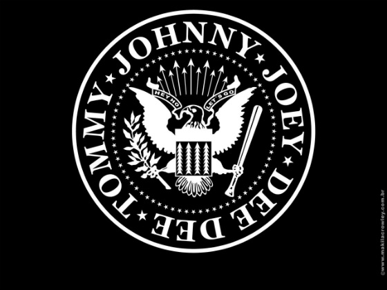Ramones Logo Joey- Johnny Dee Dee Tommy