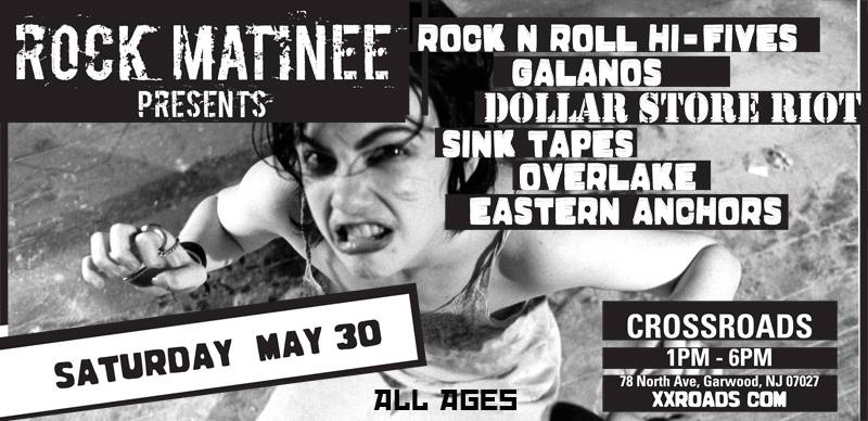 ALL AGES ROCK MATINEE: Eastern Anchors, Overlake, Sink Tapes, Dollar Store Riot, Galanos, Rock n Roll Hi Fives